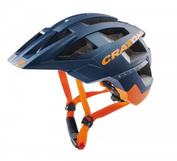 Fahrradhelm Cratoni AllSet (MTB) Gr. S/M (54-58cm) blau/orange matt