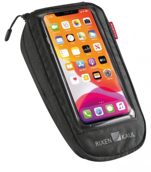 Phone Bag Comfort M KLICKfix mit Adapter transparent/schwarz, mit Drehkupplung