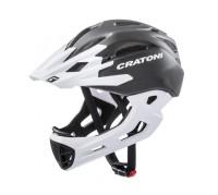 Fahrradhelm Cratoni C-Maniac (Freeride) Gr. M/L (54-58cm) schwarz/weiß matt