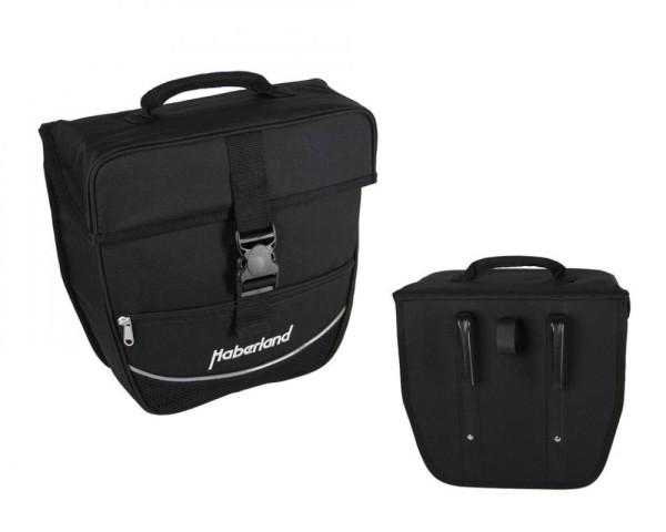 Haberland Einzeltasche Einsteiger schwarz, 30x32x13cm, 12,5 ltr
