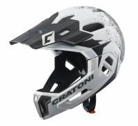 Fahrradhelm Cratoni C-Maniac 2.0MX (MTB) Gr. S/M (52-56cm) weiß/schwarz matt