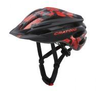 Fahrradhelm Cratoni Pacer (MTB) Gr. XS/S (49-55cm) schwarz/rot matt