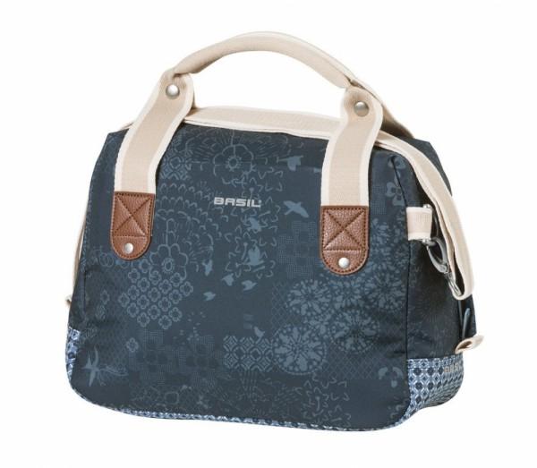 Lenkertasche Basil Boheme City Bag indigo blau m. Reißverschluss 8 Liter