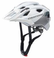 Fahrradhelm Cratoni AllRide (MTB) Gr. Uni (53-59cm) weiß/silber glanz