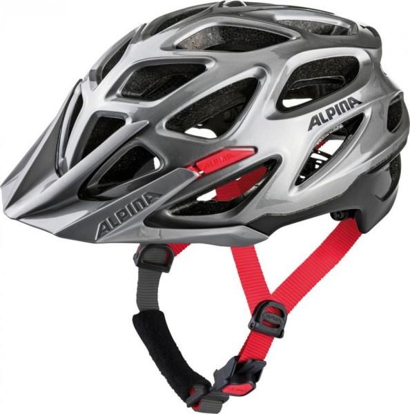 Fahrradhelm Alpina Mythos 3.0 MTB darksilver-black-red Gr.59-64cm