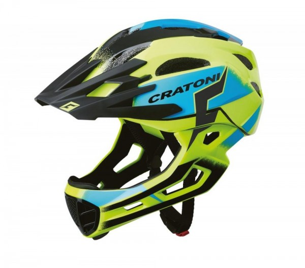 Fahrradhelm Cratoni C-Maniac Pro (MTB) Gr. L/XL (58-61cm) gelb/blau glanz